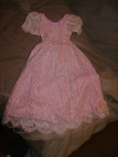 Pink & White Lace Doll Dress