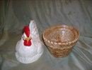 Ceramic Hen on Nest  Covered  Dish
