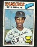 Autographed Willie Randolph Rookie Baseball Card