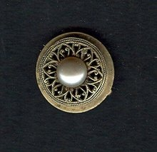 Victorian Reticulated  Gold Wash Pin
