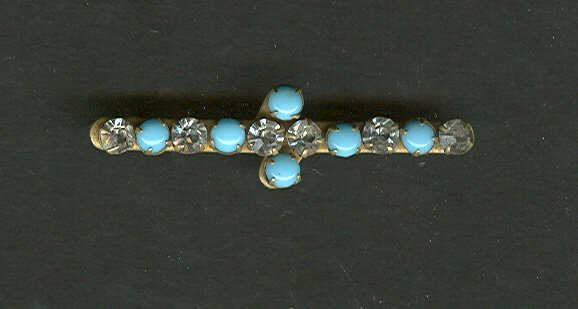 Victorian Turquoise Cabochon Bar Pin