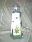 Wooden Lighthouse Table Lamp