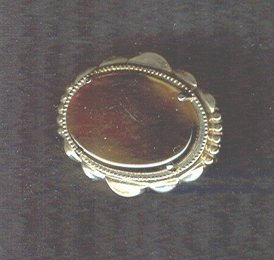 Vintage Tiger Eye Glass Pin