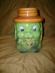 Vintage Puppy Cookie Jar