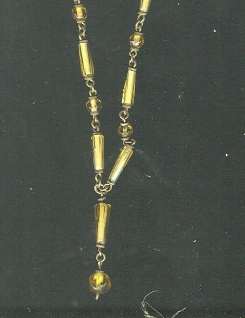 Victorian Glass Bead Necklace