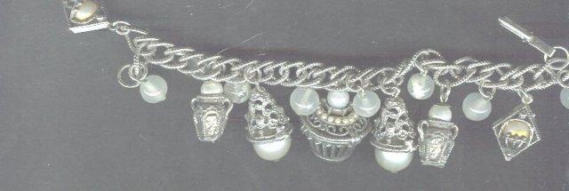 Vintage Chunky Charm Bracelet