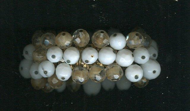 Vintage Glass Bead Stretch Bracelet