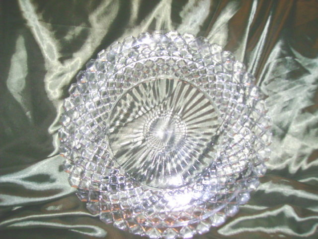 Vintage Pressed  Glass Platter