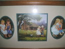 Country Boy & Girl Framed Pictures