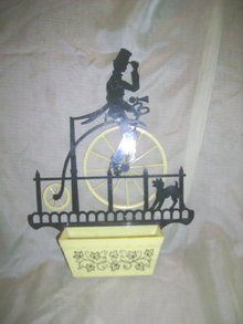Vintage Bicycle Silhouette Wallpocket