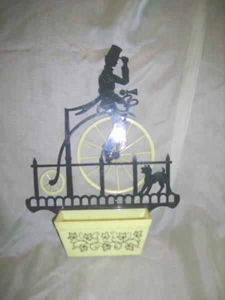 Vintage Bicycle Silhouette Wallpocket