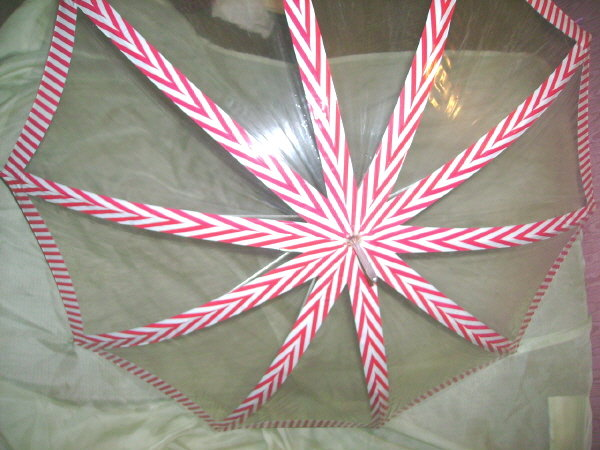 Vintage Candy Stripe Umbrella