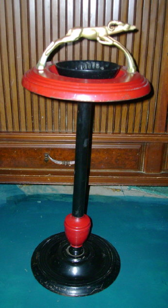 Vintage Art Deco Metal Ashtray Stand