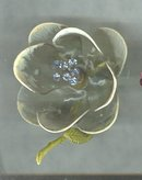 Vintage Celluloid Flower Pin w/Trembler