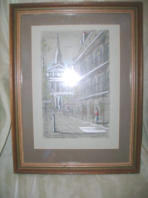 Franz Weiss Original Art  New Orleans Street Scene **LOOK***