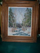 Large Antique Original Oil Painting w/Original  Wood Frame