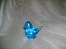Vintage Blue Bird Glass Paperweight