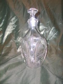 Vintage Etched Glass Decanter  w/Stopper