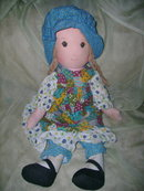 Vintage Large Holly Hobbie Doll