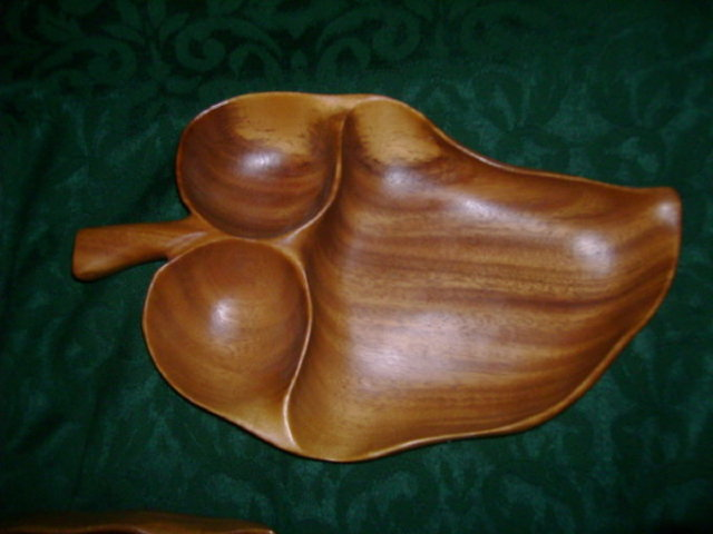 Large Monkey Pod Dish Signed *Blair