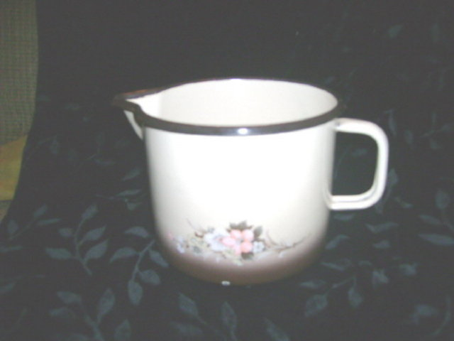 Short  Graniteware/ Enamelware Pitcher