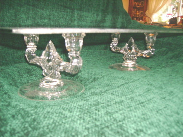 Vintage Double Crystal Candle Holders **W/Shelf