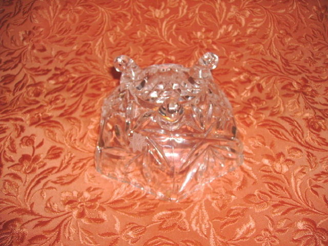 Vintage Footed Crystal Dish