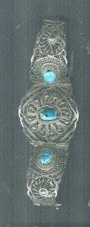 Vintage Filagree & Scarab  Bracelet