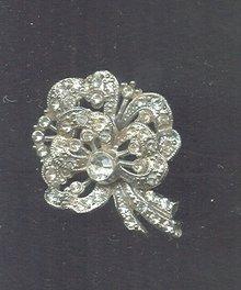 Vintage Stylized Rhinestone Brooch