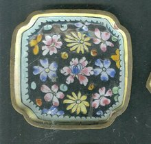 Chinese Enamel Over Copper Pin Tray