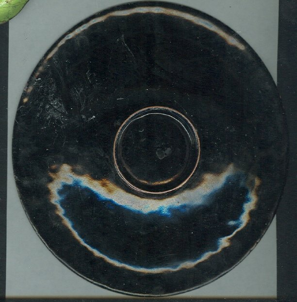 Modern  Enamel Over Copper Dish