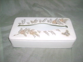 Vintage Metal Tissue Box