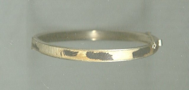 Vintage Leopard Hinged Bangle Bracelet