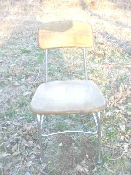 Vintage Children's Heywood Wakefield Wood School Chair & Desk Set