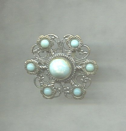 Vintage Faux Turquoise Brooch