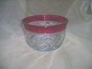 Vintage Clear  & Ruby Red Glass Dish
