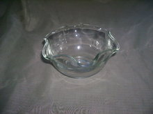 Vintage Ruffle Glass Dish