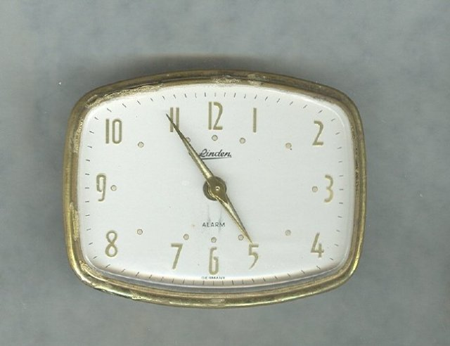 Vintage Linden Travel Alarm Clock