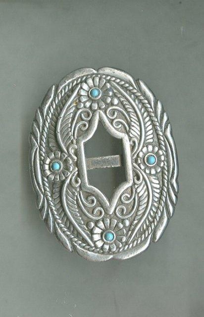 Vintage Silver Bolo Tie Holder