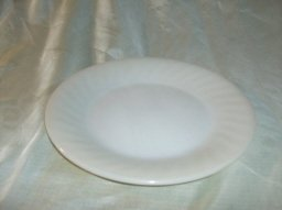 Vintage Fire King Ivory Swirl Plate