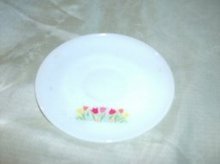 Vintage Fire King Saucer w/Tulips