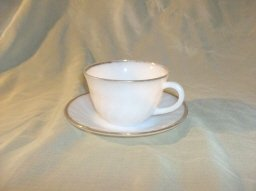 Vintage Fire King Swirl Cup & Saucer