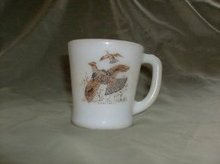 Vintage Fire King Pheasant Mug
