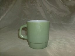 Vintage Fire King Green Mug