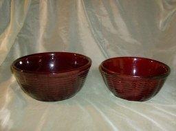 Vintage Stoneware Mixing / Nesting Bowls