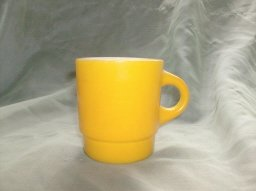 Vintage Fire King Yellow Stackable Coffee Mug