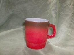 Vintage Fire King  Orange & Brown Mug Set
