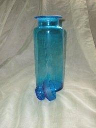 Vintage Blue Glass Canister &/or Jar
