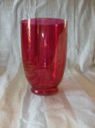 Vintage Red Glass Vase