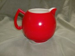 Vintage Retro Red Mid Century Modern Pitcher